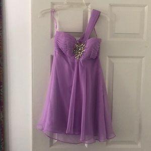 Short Lavender Dress